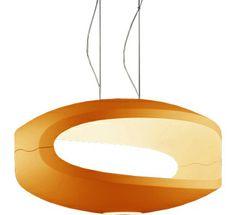 o-space suspension lamp Design Luca Nichetto + Gianpietro Gai, 2003 Polyurethane, chrome metal fitting Made in Italy by Foscarini