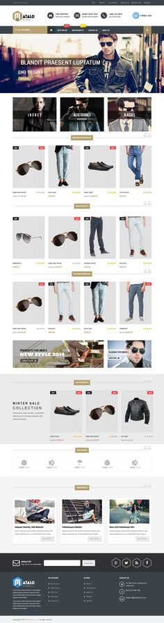 Responsive OpenCart Theme #website #webdesign #webstore Download: http://themeforest.net/item/matalo-responsive-opencart-theme/12055654?ref=ksioks