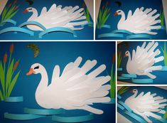Ugly Duckling, Ale, Rooster, Art Drawings, Crafts For Kids, Paper Crafts, Origami, Birds, Activities