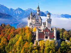 Famous Castles In Germany -Neuschwanstein Castle Beautiful Castles, Beautiful Places, Amazing Places, Sleeping Beauty Castle, Germany Castles, Neuschwanstein Castle, Famous Castles, Fairytale Castle, Cinderella Castle
