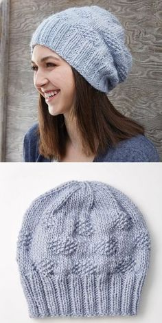 Simple casual hat knit pattern , Simple slouchy hat knitting pattern , Free Knitting Patterns Source by knitb Knit Slouchy Hat Pattern, Beanie Knitting Patterns Free, Loom Knitting, Knit Patterns, Free Knitting, Simple Knitting Projects, Free Baby Sweater Knitting Patterns, Slouchy Beanie Hats, Sweater Patterns