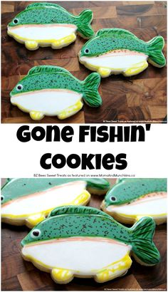 Fishing Cookies Tutorial - these fun fish cookies would be perfect for Father's Day or a Fishing Party!