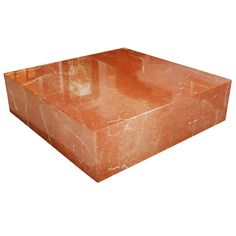 Very Large Terracotta Marble Square Coffee Table