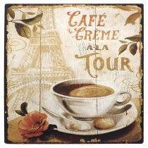 Placa de Metal Café Crème à La Tour 2309 Oldway