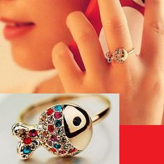 Colorful Crystal Fish Ring | LilyFair Jewelry, $12.99!