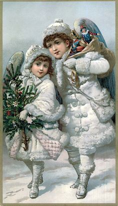 Victorian Snow Angels Smith Brothers Christmas Trade Card