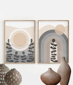 Matisse, Abstract Geometric Art, Abstract Wall Art, Geometric Prints, Etsy App, Wall Art Sets, Wall Art Prints, Animals Black And White, Beige Art