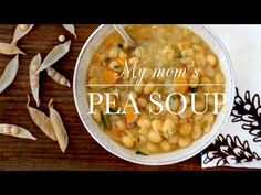 Aube Giroux honors her mother's legacy by making her famous pea soup recipe on PBS Food. Side Recipes, Veggie Recipes, Healthy Recipes, Yellow Pea Soup Recipe, Ham Bone Soup, Kitchen Vignettes, Soup Beans, Pbs Food, Tasty Videos