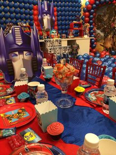 Transformers Birthday Party Ideas | Photo 1 of 45 | Catch My Party