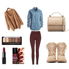 A fashion look from October 2015 by emirica featuring Vale, Topshop, Balmain, Givenchy and NARS Cosmetics