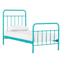 sunday teal blue bed frame from domayne
