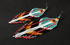 Native American Beaded Earrings Native American Beaded