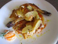 FORNELLI IN FIAMME: GUINEA FOWL WITH TANGERINE JUICE AND RED APPLES - Faraona con succo di mandarino e mele rosse