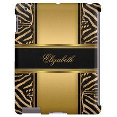 Elegant Classy Gold Zebra Zizzago.com