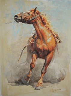 """A Dusty Two-Step"" by Abigail Gutting Oil ~ 24"" x 18"""