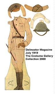 Costume Gallery-Soldier of Three Wars and Their Lasses-from the Delineator Magazine, July 1919-clothes