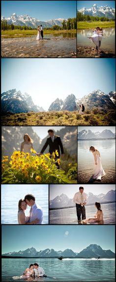 Jackson Hole Wedding & Portrait Photography | Destination Wedding Photography.. Wreck the dress!