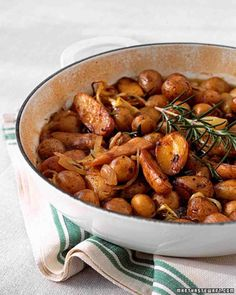Braised Little Potatoes with Shallots and Rosemary