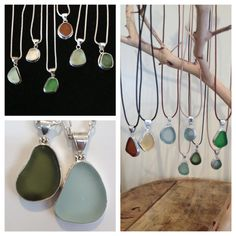 I love the display Lynn at Hummingbird created with my sea glass necklaces!