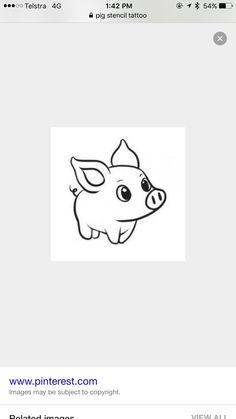 Tattoo idea for stencil pig