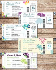 Destination Wedding / Airline Ticket by ElegantDesignsByKyla