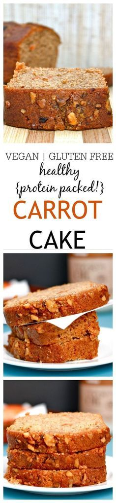 The BEST tasting 'healthy' carrot cake you'll ever eat- Moist, flavorful {Vegan, gluten free + dairy free options!} Great for those who choose gluten free. Gluten Free Baking, Gluten Free Desserts, Vegan Desserts, Gluten Free Recipes, Vegan Recipes, Yummy Recipes, Vegan Sweets, Healthy Sweets, Healthy Baking