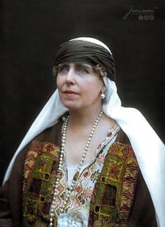 Queen Marie of Romania, 1875-1938. From British royal family, she was the guiding influence for her husband. She was immediately popular with the Romanian people and encouraged the King to ally his country with the Entente powers in WW1. When Bucharest was occupied by the Central Powers, she and three daughters worked as nurses in Moldavia caring for injured soldiers. Her oldest son Carol worked hard to crush her popularity. She later lived by the Black Sea.