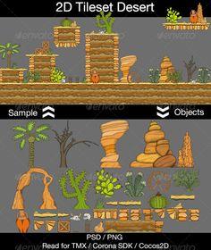2D Tileset Desert