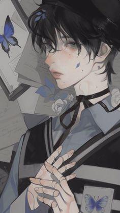Cute Anime Boy, Anime Art Girl, Manga Art, Anime Boys, Pretty Art, Cute Art, Cute Anime Character, Character Art, Aesthetic Art