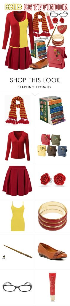 """""""Gryffindor: Belle"""" by disney49 ❤ liked on Polyvore featuring INC International Concepts, Cameo Rose, Bling Jewelry, BKE core, Robert Rose, Söfft, Madison Parker and Forever 21"""
