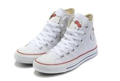 Hello Kitty All Star High Tops White Canvas Shoes