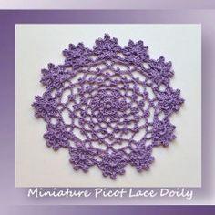 Miniature Picot Lace Doily