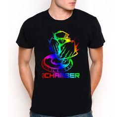 DJ Chamber Logo Custom Black T-Shirt Tee All Size XS-XXL