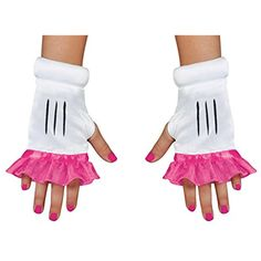 Pink Minnie Mouse Fingerless Glovettes For Girls >>> See this great product. (This is an affiliate link) #DressUpPretendPlay