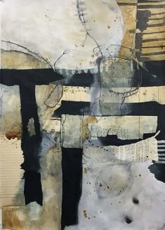 Table and chair, Mixed Media Collage on paper, 42,5 x 59 cm, 2015   by Ellen Ribbe
