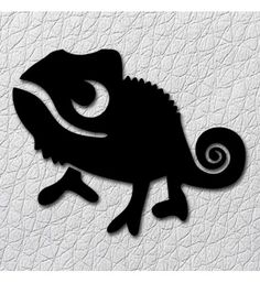 chameleon stencil for temporary tattoo