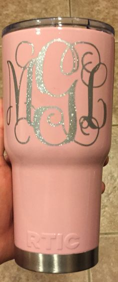 Got my girl making me and my munchkin monogrammed tumblers for school and the gym :)