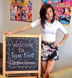 Christina Grimmie at Tiger Beat