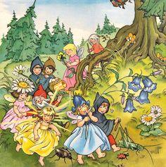 Whimsical fairies illustration by Felicitas Kuhn