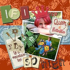 Scrapbook Layout - fun and funky