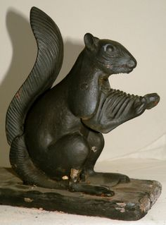 Cast iron bear bank design objects decor pinterest cast iron and iron - Nutcracker squirrel ...