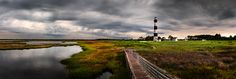 Late Afternoon Rain Storm - Five-image panorama of a rainy afternoon over Bodie Lighthouse in North Carolina.  Was a miserable day for beach lovers, but great for moody skies in photography :)