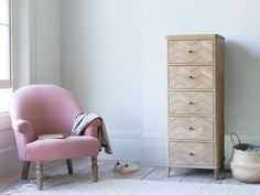 A lovely, oak tall boy chest of drawers to turn a neglected spot into Knickers & Sox Central. Your rummaging days could soon be over. Boy Dresser, Dresser As Nightstand, Tall Boy Drawers, Tall Boys, Small Room Decor, Cushion Filling, Diy Chair, Occasional Chairs, Unique Furniture