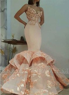 Newest Lace Sweetheart Mermaid Appliques Sleeveless Prom Dress Prom Dresses Orange Prom Dresses Sleeveless Prom Dresses Appliques Prom Dresses Lace Prom Dresses Prom Dresses 2019 Orange Prom Dresses, Best Prom Dresses, Trendy Dresses, Elegant Dresses, Beautiful Dresses, Fashion Dresses, Bridesmaid Dresses, Wedding Dresses, Dress Prom