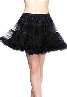 Layered tulle petticoat.