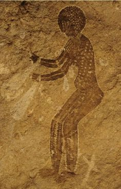 Ancient rock art of the indigenous, aboriginal people ( Ancient Berbers ) of Algeria.