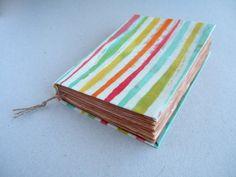 colorful stripes Handmade batik journal notebook diary by Patiak