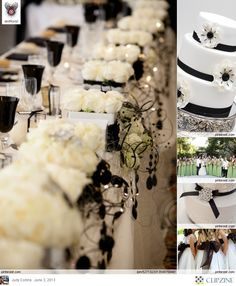 Black + White Wedding Tablescape #Black & White wedding receptions ... Wedding ideas for brides, grooms, parents & planners ... https://itunes.apple.com/us/app/the-gold-wedding-planner/id498112599?ls=1=8 … plus how to organise an entire wedding, without overspending ♥ The Gold Wedding Planner iPhone App ♥