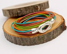 Fiesta Wrap Bracelet Infinity Knot Bangle Amy Fine by amyfine