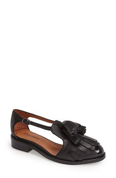 Free shipping and returns on Jeffrey Campbell 'Taft' Cutout Oxford (Women) at Nordstrom.com. Swishy tassels and a brogued fringe kilt distinguish a menswear-inspired oxford framed with bold cutouts.